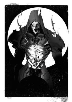 Love this Reaper art, it's soo good Overwatch Comic, Overwatch Tattoo, Overwatch Reaper, Overwatch Fan Art, Gabriel Reyes Overwatch, Faucheur Overwatch, Overwatch Wallpapers, The Warlocks, Soldier 76