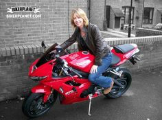 #Biker lady loves men with a sparkle in their eyes. Guys, wanna share biking experiences with her? Click her picture, join our biker community and meet her. #bikerplanet #dating #bike #blondes