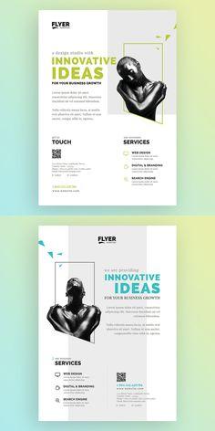 Set of Creative & Corporate Flyer Template AI, PSD – Fabienne Wittwer – Design Design Set, Layout Design, Print Layout, Editorial Design Layouts, Flyer Design Inspiration, Design Graphique, Art Graphique, Design Menu Pizza, Typography Design