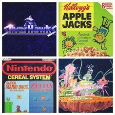 Saturday Morning #CARTOONSandCEREAL (Silver Hawks, Apple Jacks, Nintendo Cereal, Galaxy High School) #80s