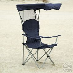 Escape the bad weather in this cool chair with an attached fold-up canopy!  http://www.campingworld.com/shopping/item/canopy-bag-chair/58375