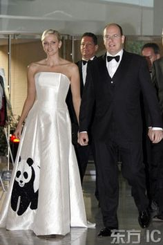 0c4e89727b4a South African swimmer Charlene Wittstock and Prince Albert of Monaco at WWF  fundraiser