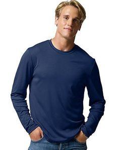 127e3b596c0160 Hanes Cool DRI Performance Men s Long-Sleeve T-Shirt Men s Shirts