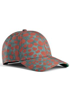 Style Home Run: 12 Sporty-Chic Baseball Caps  #refinery29  http://www.refinery29.com/fashionable-baseball-caps#slide2  Acne Camp Print Animal Rust, $170, available at Acne.