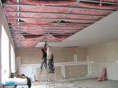 Isolamento acústico teto. Finalidade: Reduzir ruídos do andar de cima. Em estúdios de som atenua o ruído para outros ambientes.