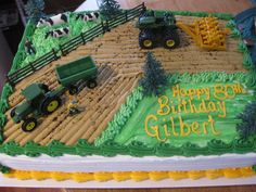 perfect for his fourth birthday. or his 3 birthday ; perfect for his fourth birthday. or his 3 Tractor Birthday Cakes, Boy Birthday, Tractor Cakes, Fourth Birthday, Birthday Ideas, Birthday Cupcakes, Farm Cake, Farm Party, Cakes For Boys