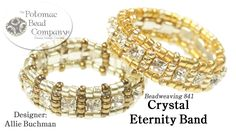 "This video tutorial designed by Allie Buchman teaches you how to make here ""Crystal Eternity Band"" design. Find a complete list of supplies below by clicking..."