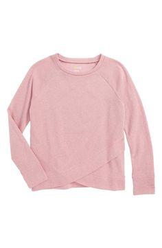 Zella Girl Petal Sweatshirt (Little Girls & Big Girls) Big Girl Clothes, Wrap Style, Little Girls, Girl Outfits, Nordstrom, Sporty, Hanukkah 2017, Tees, Sweatshirts