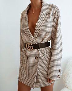 Oversized Blazer Gucci Belt Stylish Dressy Outfit Inspo Ideas Styled Up Night Out Fashion Inspo Mode Outfits, Fall Outfits, Fashion Outfits, Womens Fashion, Fashion Tips, Fashion Trends, Blazer Fashion, Fashion Essay, Casual Outfits