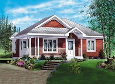 Elevation of House Plan 49573
