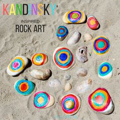 Kandinsky Inspired Rock Art is a fun twist on Kandinsky's famous work to create a fabulous colour mixing art project for kids.