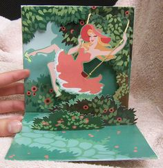 Swing into Spring: Pop-Up card by Katie Scheid, via Behance