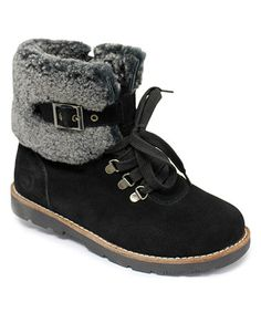Black Mammoth Suede-Merino Wool Boot by Dije #zulily #zulilyfinds