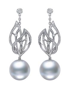 Mikimoto Cape Gooseberry pearl earrings.  | The Jewellery Editor