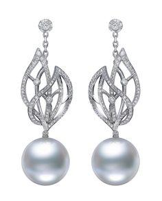 Mikimoto Cape Gooseberry pearl earrings.   The Jewellery Editor