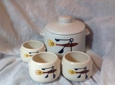 1950s West Bend bean pot with lid and three by Lulubellebazaar