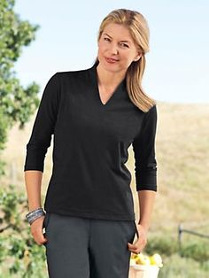Explore ultimate softness of our prima cotton v neck tee for women. This stylishly narrow v neck is supremely comfortable & versatile. Get yours today!