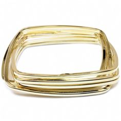 Plain Gold Bangle Set