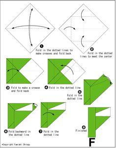 Alphabet F - Easy Origami For Kids