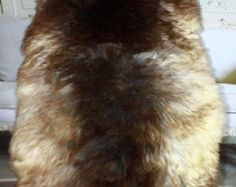 Rare real, Beautiful, Natural, unique Sheepskin Rug, Pelt, soft, thick fur - XXL EXTRA LARGE