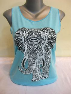 New selection of $15 Shirts and Tanks in our sale closeout sections.   Here's the Super Soft Womens Elephant Tank Top Turquoise
