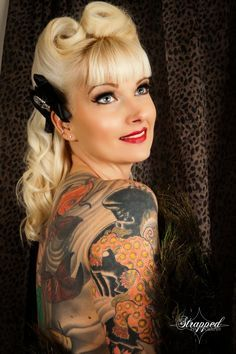 Victory Rolls with Bangs | Victory Rolls & Bangs & Tattoos