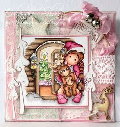 Cards and More Cards: Magnolia-licious Pink Christmas Challenge