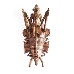 Source Senoufu Traditional Mask of The Guide by House of Avana African Masks, African Art, Sculpture Painting, Ivory Coast, Architectural Elements, Design Elements, Traveling By Yourself, Scandinavian, Sculptures