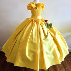 Princess Belle inspired Gown Prom Belle Dress Brooch Age 3
