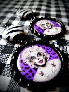 Hardcore Marilyn earrings by LttleShopOfHorrors on Etsy, $6.50