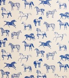 Collette Wallpaper A smart off white wallpaper with a bold black and white etched equestrian illustration.