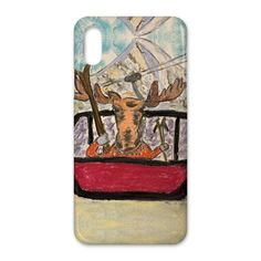 Cool Skier Moose in Crested Butte iPhone case - iPhone 4