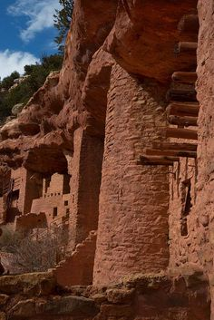 The Manitou Cliff Dwellings in Manitou Springs, Colorado