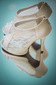 Wedding booties are a vintage homage from @BHLDN Weddings {Severine Photography}