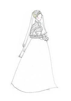 Royal Wedding Princess Grace Kelly Fashion Print by RepliKateIt