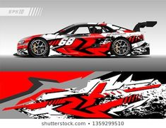 Similar Images, Stock Photos & Vectors of Car decal graphic vector, wrap vinyl sticker. Graphic abstract stripe designs for Racing vehicles. Car Stickers, Car Decals, Vinyl Decals, Vinyl Wrap Car, Design Vector, Car Painting, Car Wrap, Stripes Design, Graphic