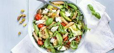Gezonde pastasalade - Makkelijk recept - Leuke recepten Cobb Salad, Green Beans, Avocado, A Food, Vegetarian Recipes, Salads, Bbq, Lunch, Dinner