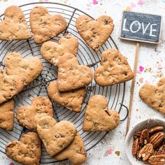 Valentine's Cookies Cranberry and Pecan Madeleine Shaw
