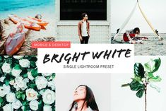 Bright White Lightroom Preset - Actions Adobe Photoshop Lightroom, Photoshop Actions, Lightroom Presets, Dslr Photography Tips, Photography Projects, Order Prints Online, Raw Photo, Professional Photo Lab, Bright