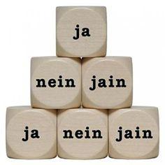 """ja-nein-jain"" Holzwürfel 30 mm - 1 Stück toys-for-all http://www.amazon.de/dp/B006TCKAMG/ref=cm_sw_r_pi_dp_0pRgxb1FZAXKR"