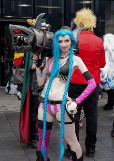 Entry #126: Emma Hill  Character: Jinx, from League of Legends Cosplayer page: Battleroyalboy & Crashqueenbaby Cosplay  Vote for this entry by liking, commenting, and sharing this post! Entry #126: Emma Hill  Character: Jinx, from League of Legends Cosplayer page: Battleroyalboy & Crashqueenbaby Cosplay  Vote for this entry by liking, commenting, and sharing this post!