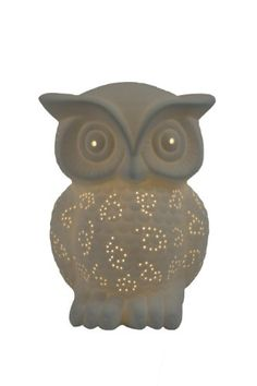 Simple Designs LT3027-WHT White Porcelain Animal Shaped Table Lamp, Wise Owl Simple Designs Home http://www.amazon.com/dp/B00HR5P60U/ref=cm_sw_r_pi_dp_co7avb0SAM3SK