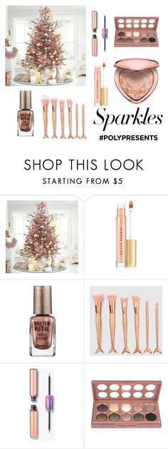 """#PolyPresents: Sparkly Beauty"" by amirahayu on Polyvore featuring beauty, Kevyn Aucoin, Barry M, NYX, Too Faced Cosmetics, contestentry and polyPresents"
