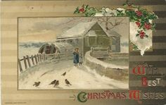Hey, I found this really awesome Etsy listing at https://www.etsy.com/listing/164972645/antique-postcard-with-best-christmas