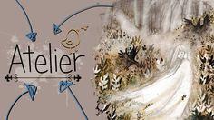 Moje kresba - akvarel(watercolor) - Lesní duch - Atelier - ShyArtist