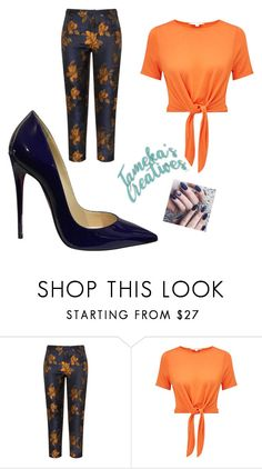 """blue"" by tamekascreatives on Polyvore featuring Manon Baptiste, Miss Selfridge and Christian Louboutin"