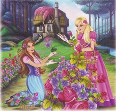 Barbie & the Diamond Castle Book Scan Barbie Funny, Barbie Cartoon, Barbie 12 Dancing Princesses, Princess And The Pauper, Barbie 2000, Barbie Movies, Barbie Stuff, Barbie Images, Barbie World