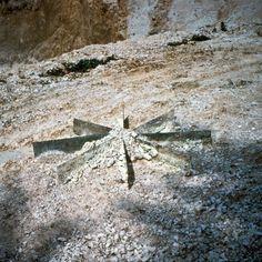 Robert Smithson Chalk Mirror Displacement 1969