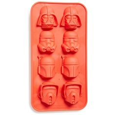 DC Comics 'Star Wars - Helmets of the Dark Side' Rubber Ice Cube Tray (17 CAD) ❤ liked on Polyvore featuring home, kitchen & dining, kitchen gadgets & tools, red, star wars ice tray, rubber ice cube trays, ice mold, ice cube trays and rubber ice trays