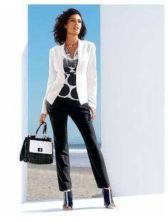 Tons noir & blanc - Une tenue de ville élégante au style graphique